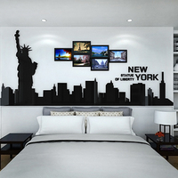 American Statue of Liberty 3D Wall Sticker Room Wall Decoration Living Room Sofa TV Wallpaper Sticker