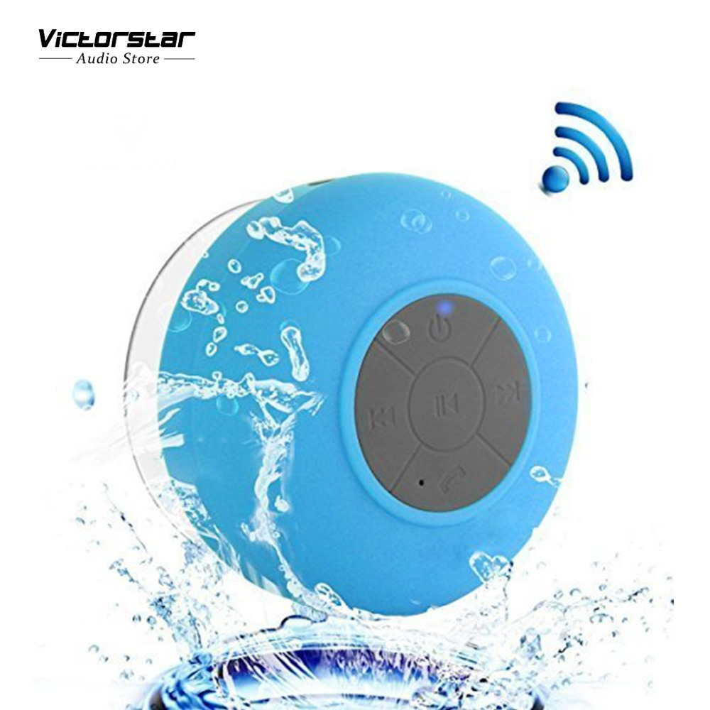 Shower Bluetooth Speaker IPX4 Water-Proof, Portable Speakerphone, with Built-in Mic, Rechargeable Battery, Suction Cup Base