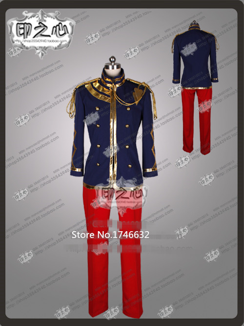Hot Anime UTA NO PRINCE SAMA BRAND NEW MELODY Uniforme Militaire Party Uniform Suit Cosplay Anime Costume Any Size