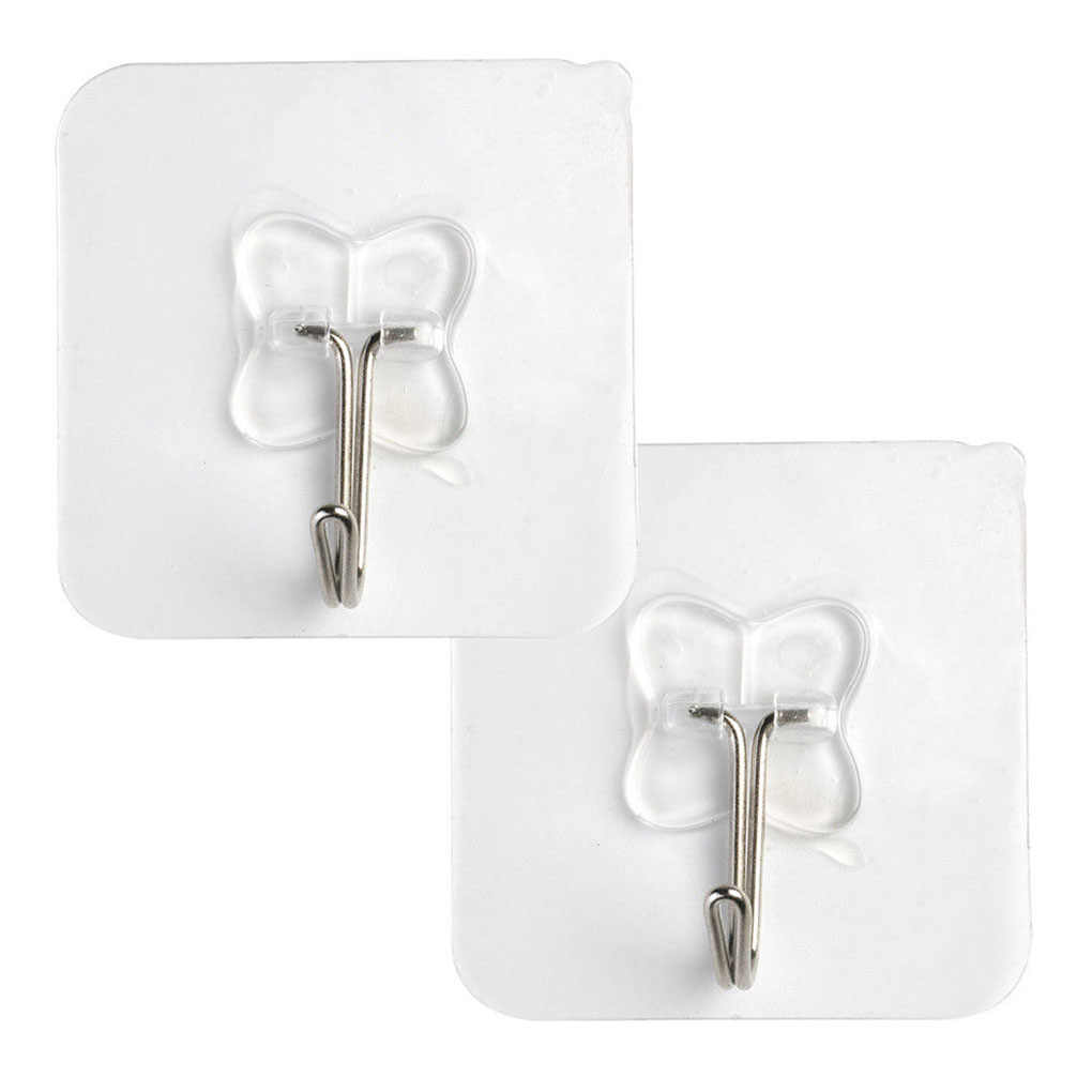 2pcs Removable Bathroom Kitchen Wall Hangers Strong Suction Cup Hook