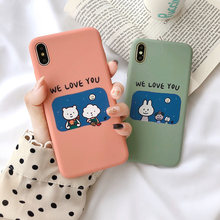 VR VAVA Soft TPU Cases Couples Matte Cover For iPhone 7  8 Plus X XS XR Xs Max 6s Case Phone Accessories