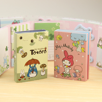 1 PC Kawaii Totoro Melody 6 Folding Memo Pad Sticky Notes Memo Notepad Bookmark Gift Stationery 1