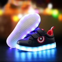 2017 fashion kids light up led luminous girl shoes color glowing casual with simulation sole charge for Children boy Sneakers Boy's Shoes