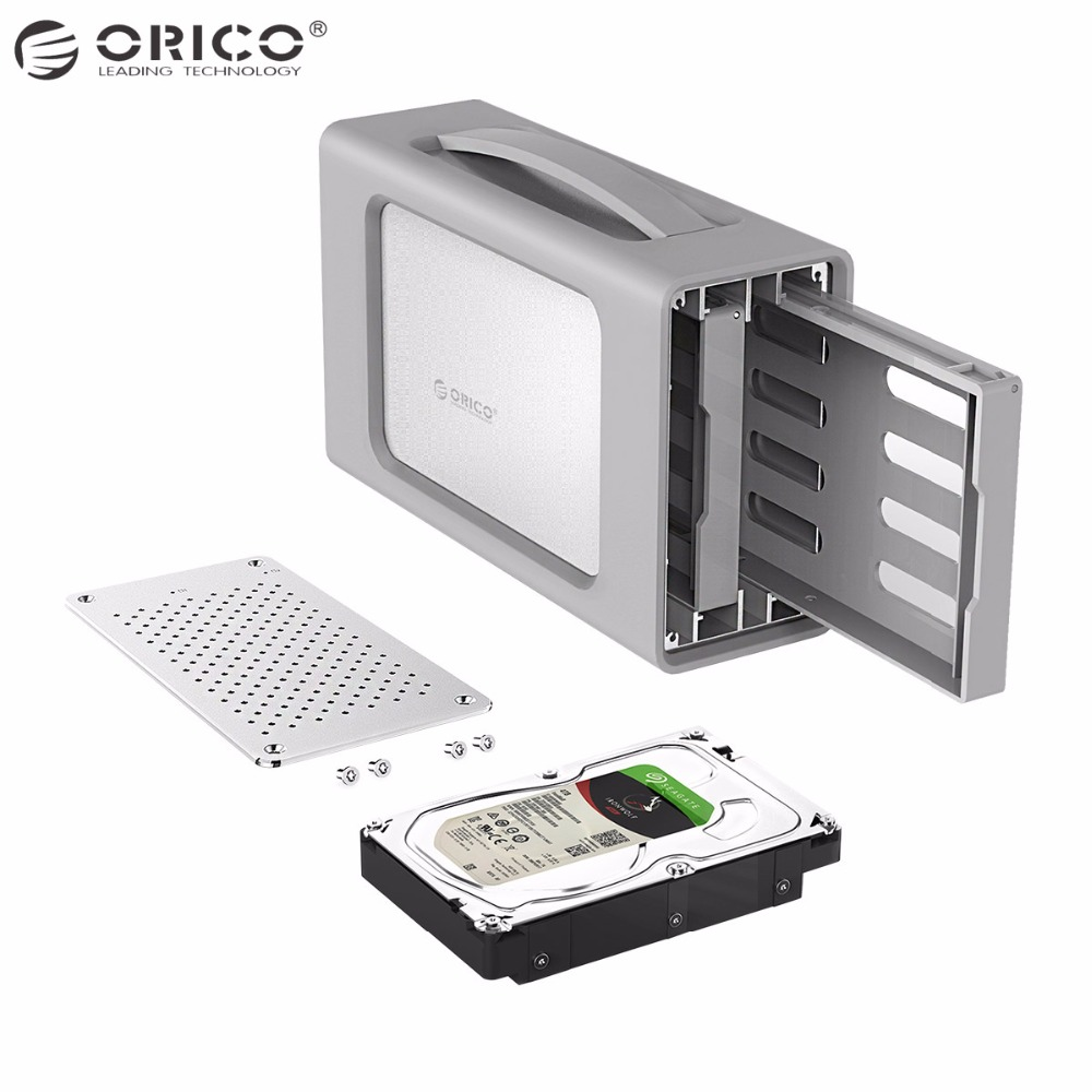 ORICO Type-C Dual-bay Hard Drive Enclosure With Raid 3.5 inch Docking Station USB3.1 Silicone Cover 20TB Aluminum 12V4A