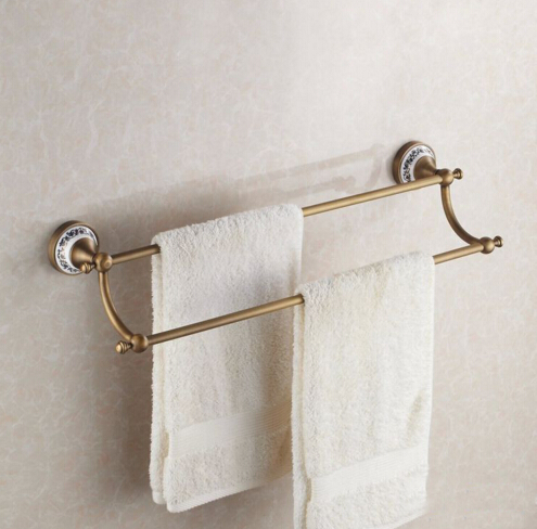 High Quality Towel rack copper bathroom accessories fashion antique bathroom double towel bar /towel rack /towel holder 7 inch color tft lcd wired video door phone home doorbell intercom camera system with 1 camera 1 monitor support night vision