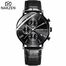 NAKZEN 2018 New Watches Men Luxury Brand Chronograph Man Sports Watches Waterproof Full Steel Quartz Watch Relogio Masculino