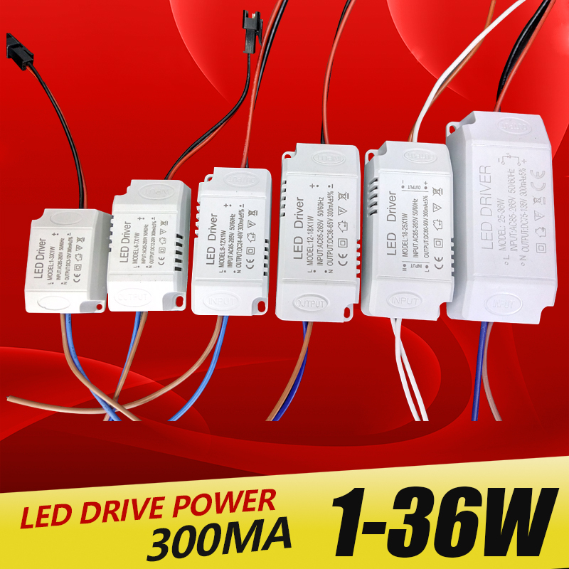 High Quality 1W 7W 15W 18W 24W 36W Power Supply Constant Current Voltage LED Driver Adapter Transformer Switch For LED Lights water resistance 19 24w led constant current source power supply driver 90 265v