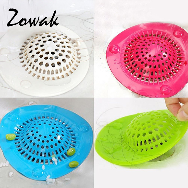 Bathroom Shower Drain Hair Catcher Stopper Kitchen Bathtub