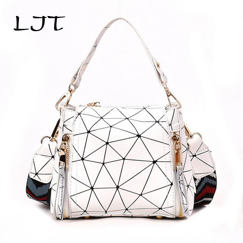 LJT Small Bag Female Summer Personalized Strap Shoulder Bags For Women 2018 Fashion Luxury Handbags Pu Leather Bucket Tote Bag
