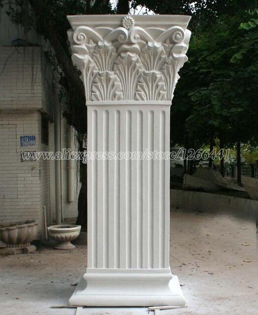 Carved Stone Roman Pillars Roman Corinthian Style Square
