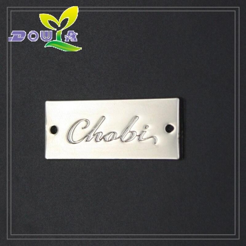 Пользовательские металлический логотип бренда для сумки из металла этикетки Индивидуальные платье label одежда ручной работы металлические ...