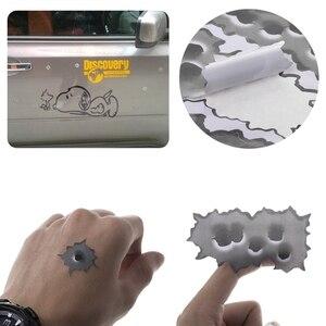 Image 2 - Autocollants en 3D de trous de balle