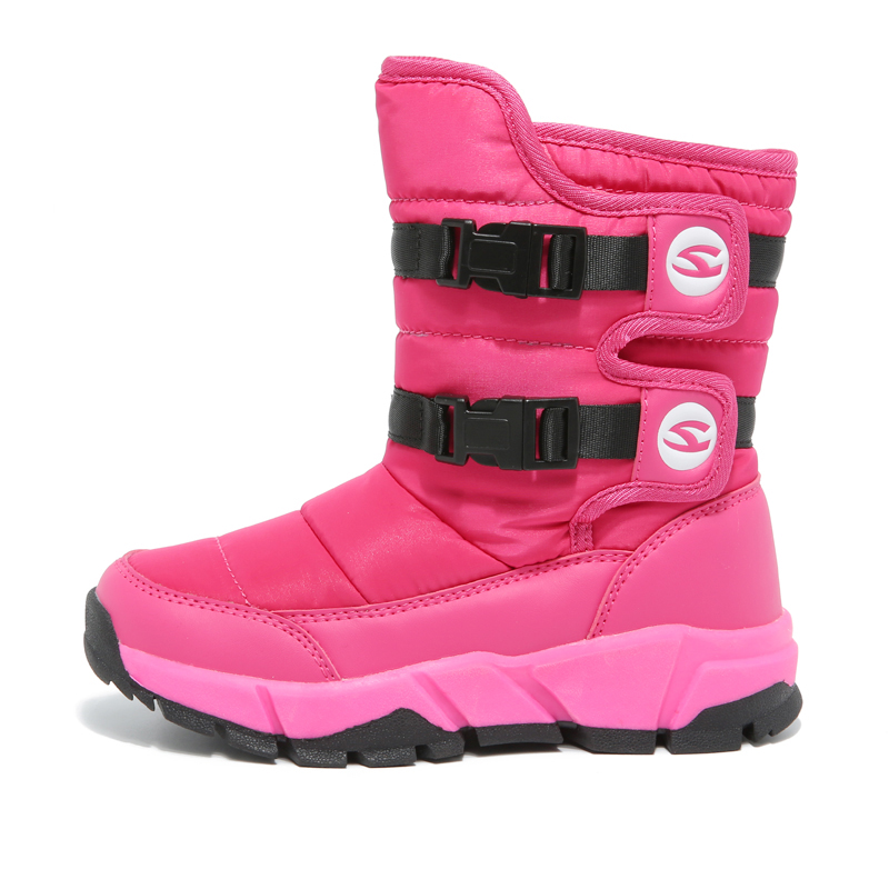 HOBIBEAR Winter Snow Boots for Girls Skórzane buty dziecięce Warm - Obuwie dziecięce - Zdjęcie 2