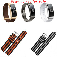 Фотография BRETA new color nylon strap for HUAWE B2 B3 smart watch accessories waterproof strap 15MM 16MM sports watchband