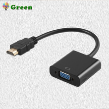 High Quality HDMI to VGA Adapter 1080P Digital to Analog Video Audio Male To Famale Converter Adapter  For PC Laptop Tablet hdmi to vga adapter with video audio ps4 audio cables converter adapter 1080p digital to analog for pc laptop tablet