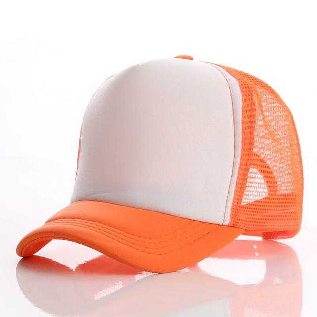Orange white orange Baseball net 5c64f225d8786