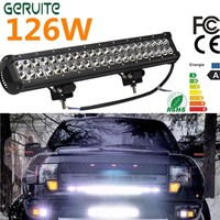 Top Quality 12v dual rows led driving light IP67 waterproof work light 126W 20 inch offroad car led light bar