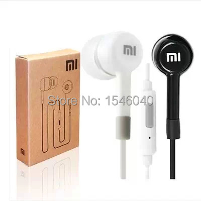 Free shipping New Stereo 3.5mm Jack Earphone Headset For XiaoMI M2 M1 Samsung iPhone 4 5 6 MP3 MP4 With Remote And MIC
