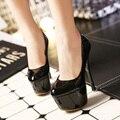 Новая мода платформа женщины насосы лакированной кожи партии высокие каблуки весна лето осень женской обуви свадьба brial