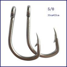 40pcs 5/0 Mustad Fishing Hook Stainless Steel Tuna Circle Fishing Hook Barbed Hook For Fishing