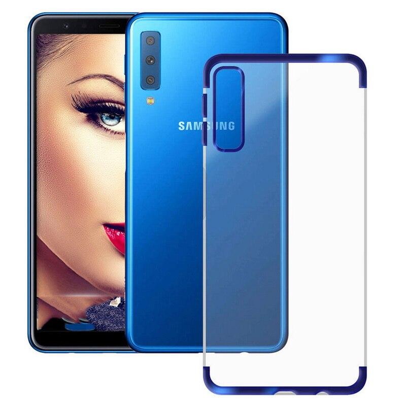 Тонкий покрытие Прозрачный чехол для телефона для samsung A7 A9 2018 J4 J6 J8 Мягкий силиконовый прозрачный чехол-накладка для Galaxy A6 A8 плюс S9 S8 S7