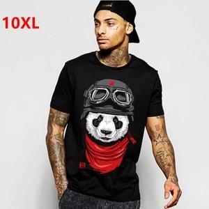 Image 2 - plus size fat clothing mens  short sleeve 8xl o neck lycra cotton short sleeve t shirt Short sleeve T shirt 155 cm chest