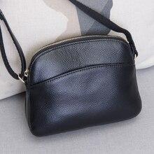 Quente slae novo item de couro genuíno pequenos sacos do mensageiro para senhoras bolsas do sexo feminino sacos de compras único ombro saco