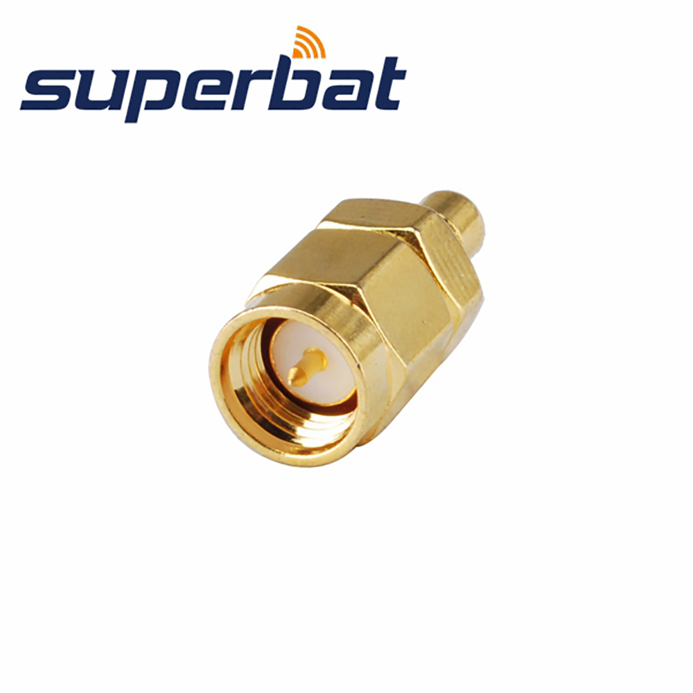 Superbat Aerial Connector For DAB Radio With RP-SMA Female Jack ( Male Pin) To RP-SMB Female Jack ( Male Pin) Connector