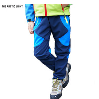 Camping hiking autumn winter Children pants Ski boy girl windproof waterproof outdoor Soft shell warm