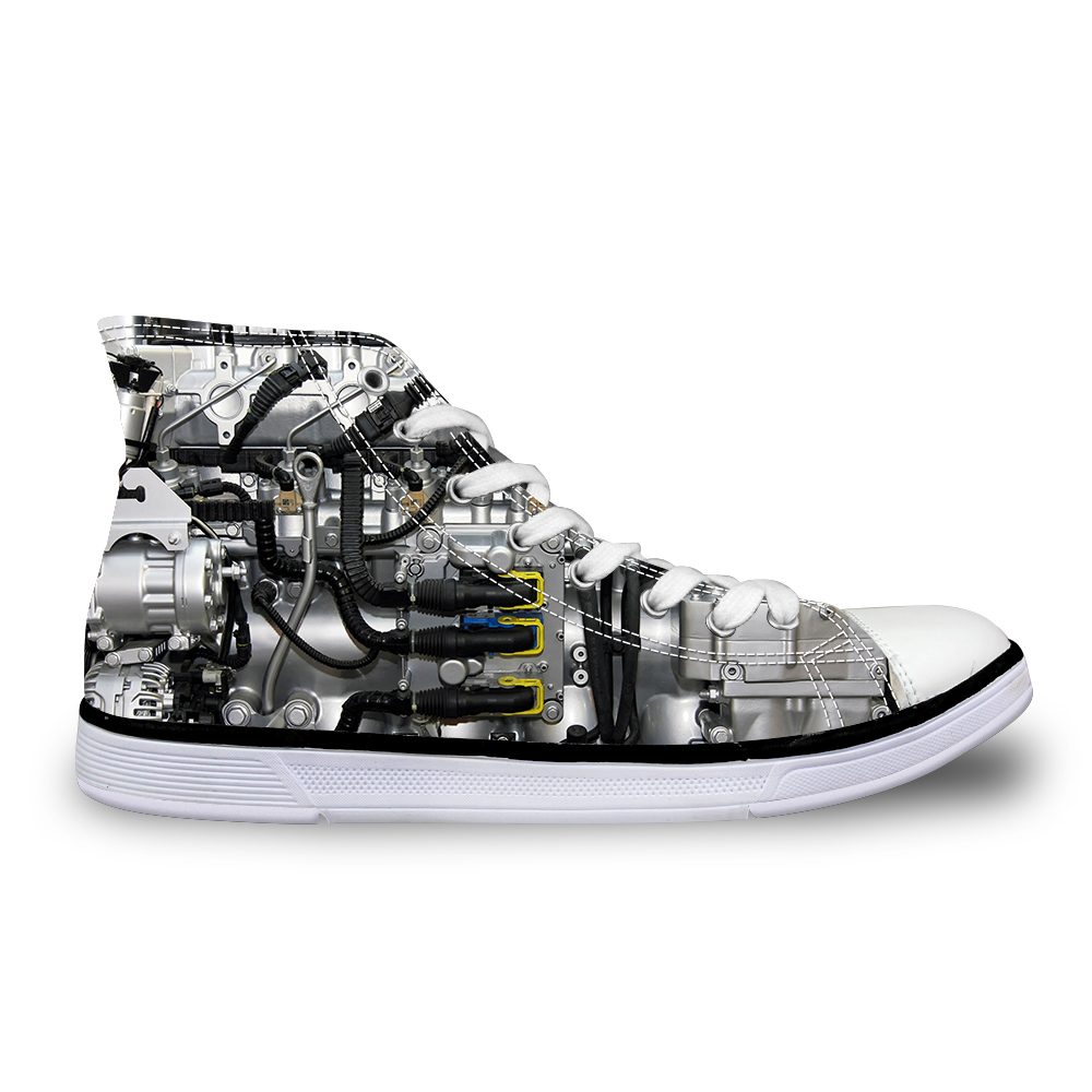 Noisydesigns Hoge top canvas Heren sneakers vintage gevulkaniseerd - Herenschoenen - Foto 3