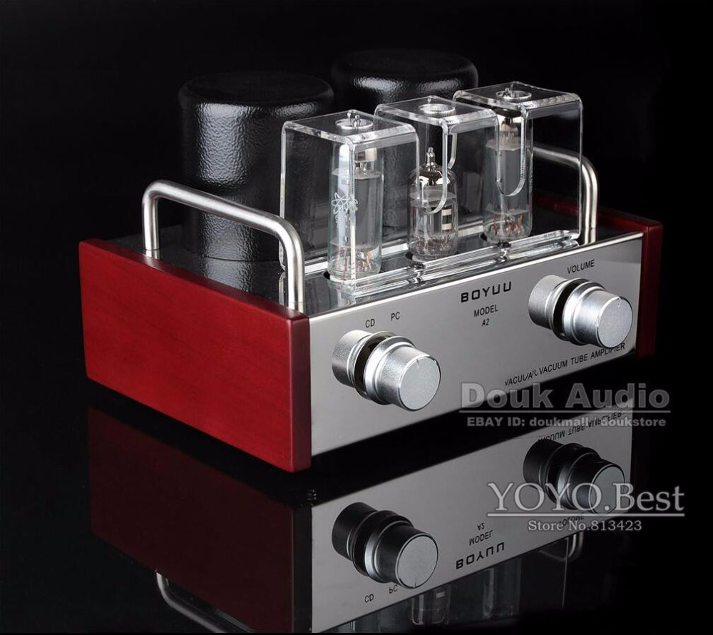 где купить  Douk Audio Mini Single-ended 6P14&EL84 Vacuum Tube Amplifier HiFi Integrated Amp Finished Product 110~240V  по лучшей цене