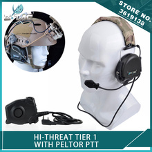 Z Tactical New Softair Hi-Threat Tier 1 Headset TEA Releases Airsoft Headphone with Peltor PTT for Kenwood