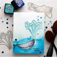 DiyArts Splash Negative Dies Whale Fountain Metal Cutting New 2019 for Craft Scrapbooking Embossing Die Cut Stencil
