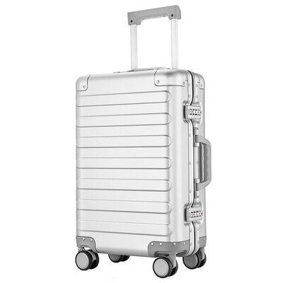 100% Alumnium 20 Zoll Rolling Gepäck Leichte Hardside Reise Trolley Tragen Auf Koffer
