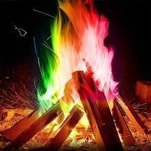 10 г/15 г/25 г, магический трюк, инструменты для выживания на открытом воздухе, кемпинга, туризма, волшебный огонь, красочное пламя, порошок, костер, саше, пиротехника 1