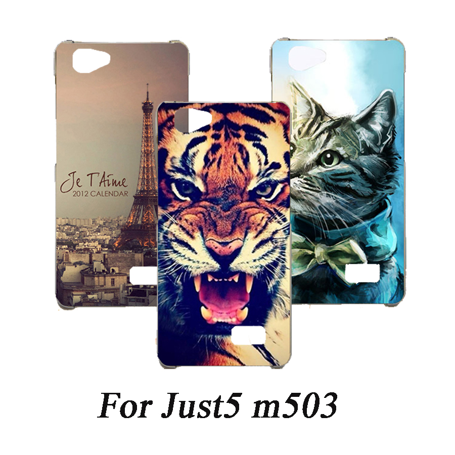 Soft Tpu Phone Case For Just5 m503 Cases Silicone Painted Wolf Rose Cat Eiffel Fundas Sheer For Just5 m503 Back Cover image