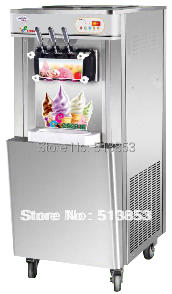 Stainless Steel,Discount sales---Floor stand soft ice cream making machine/ Icecream Maker Ourput 22~25 liters/hour as seen on tv discount commercial ice cream making machine soft icecream maker machine for sale