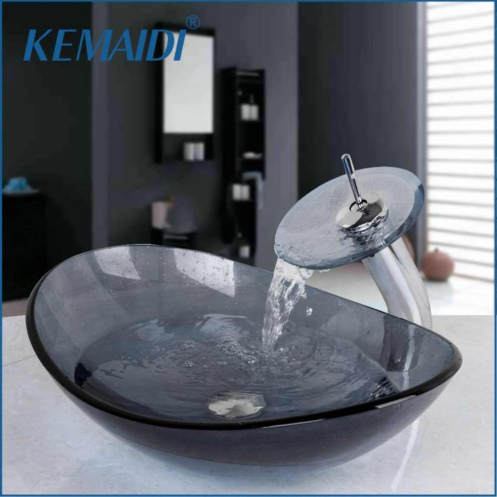 Kemaidi Oval Washroom Basin Vessel Vanity Sink Bathroom Mixer Basin Washbasin Brass Faucet Set W Drain Vanity Sink Bathroom Sink Setvessel Sink Vanity Aliexpress