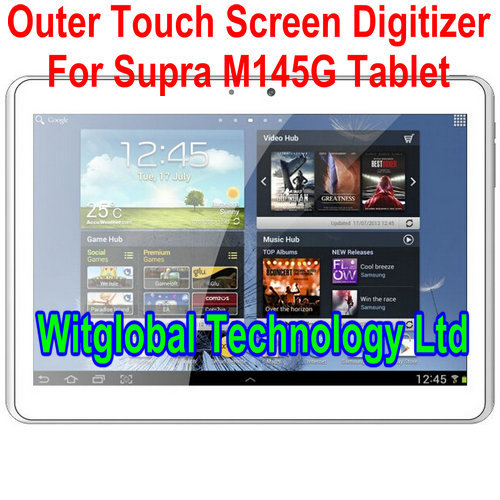 White New 10.1 Supra M145G Tablet Touch Panel Digitizer Glass Touch Screen Glass Sensor free Shipping new for 7 supra m720g m726g tablet capacitive touch screen touch panel supra m720g kq fpc 753a0 v02 digitizer free shipping