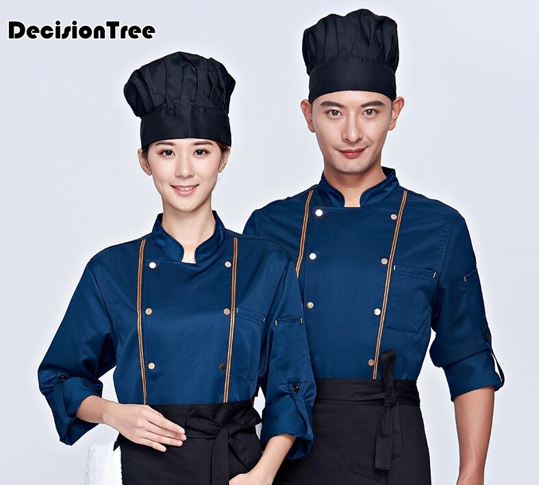 2020 Full Sleeve Chefs Uniform Breathable Net Chef Shirt Special Mesh Cool Chef White Uniform Waiter Workwear