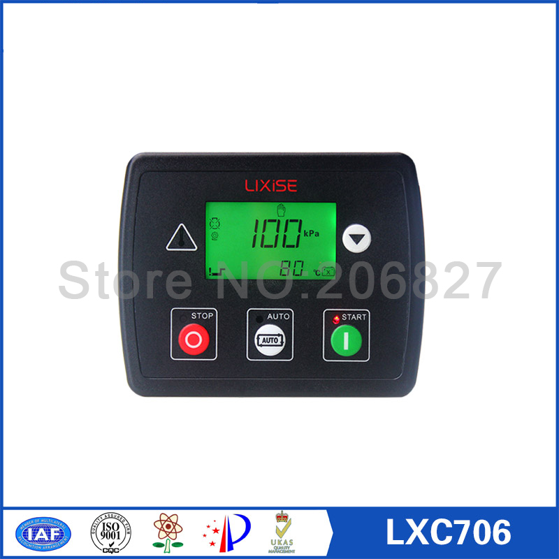 LXC706 diesel generator auto start control Completely replaced dse702 diesel generator auto start control fast shipping 5 pins 10kw ats three phase 220 380v diesel generator control automatic starting system auto start stop function