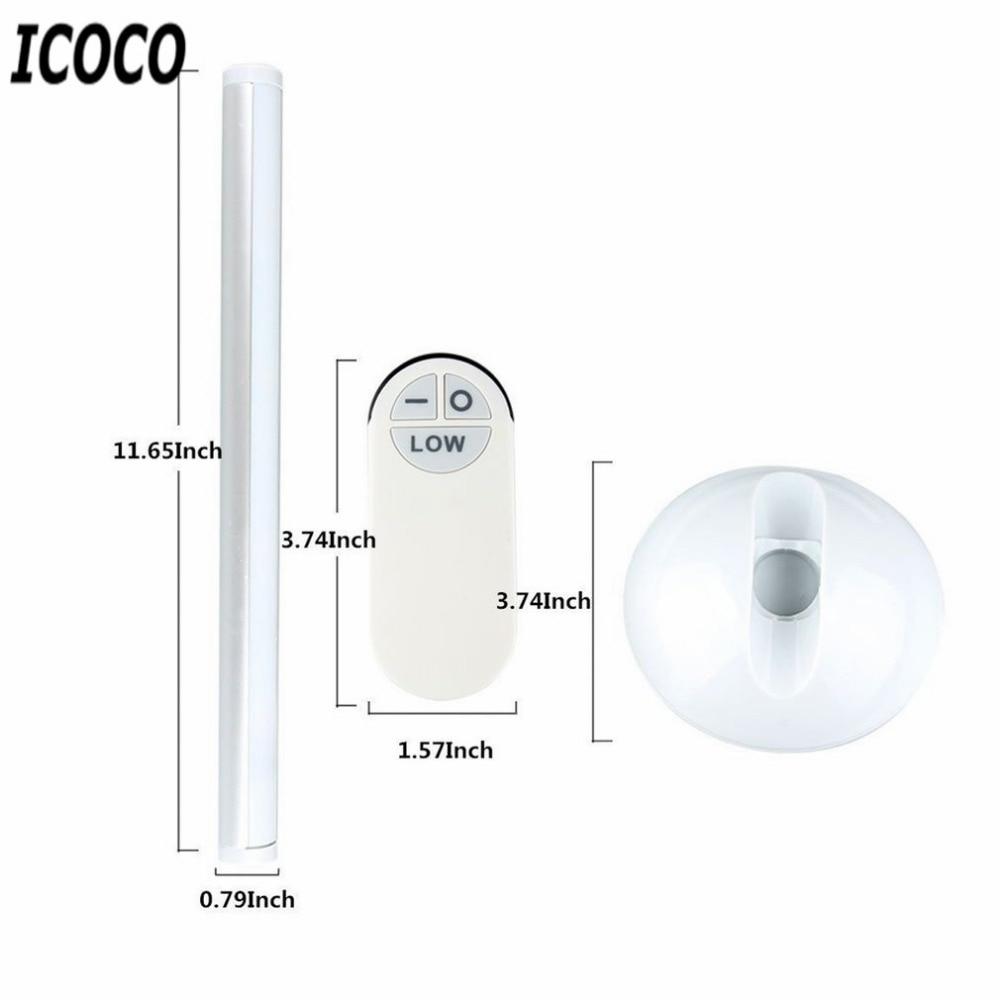 ICOCO LED Wireless Remote Control Night Light Wardrobe Bedside Cabinet Closet Tube LED Lighting Bedroom Decorative Nightlight