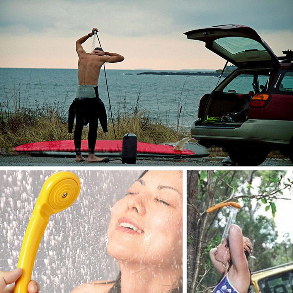 Drop shipping Portable car shower kit 12v Camping Hiking Travel Car Pet Shower Spa Wash Pump Pipe Kit Outdoor Useful Tools