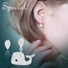 The SPECIAL New Fashion  fairy tale sterling 925 silver needleearrings shine earrings, ear needles, nails for women ,S2449E