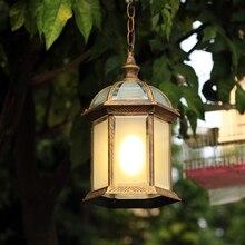 Американский кантри открытый доказательство воды Подвесной Светильник балкон гостиной двор лоза цепи лампы