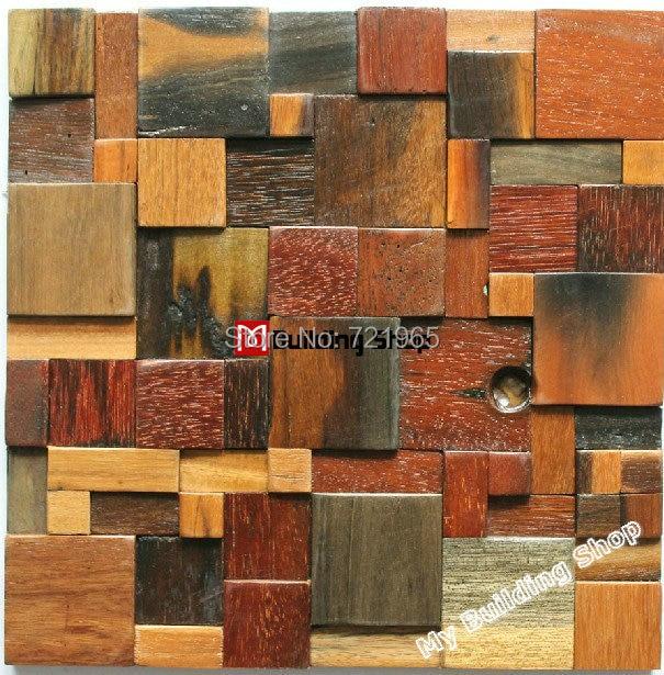 Holz Wandfliesen naturholz mosaik fliesen rustikalen holz wandfliesen backsplash
