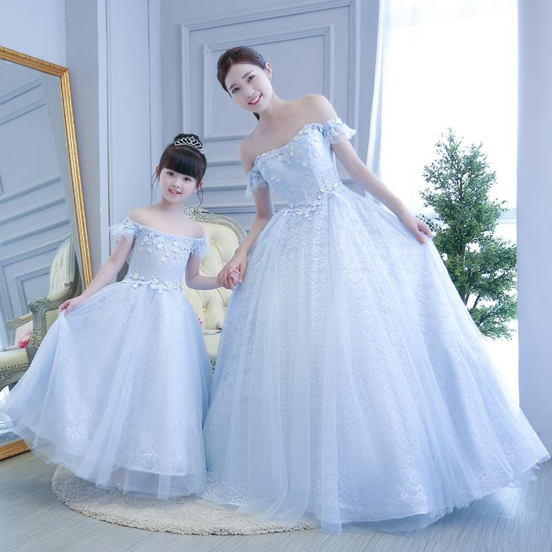 ✅Famille correspondant tenues fille princesse