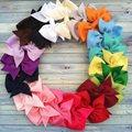 20 pcs boutique hair bows bebê meninas crianças headwear crianças grampos de cabelo de jacaré grampo de cabelo fita de gorgorão
