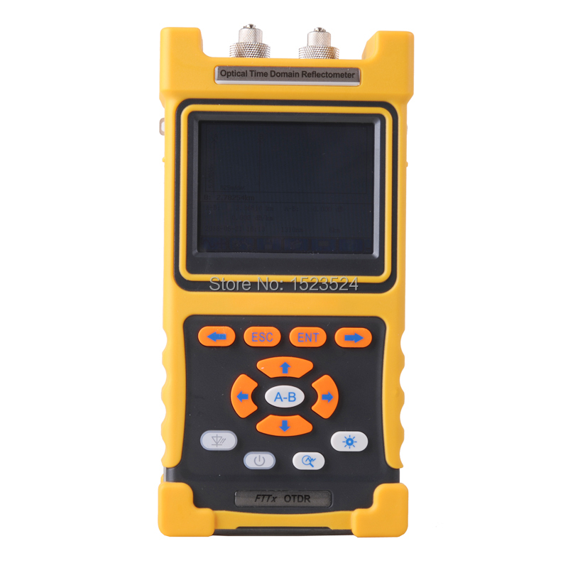 28/26dB SM 1310/1550nm Optical Time Domain Reflectometer Fiber Optic OTDR with Built in VFL Touch Screen