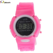 Malloom Kids Watches Clock Electronic Digital Watch LCD Display Wristwatch Gifts for Girls Boys relogios masculino